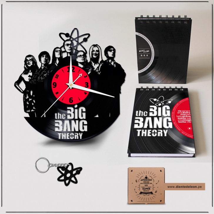 RELOJ + LIBRETA + LLAVERO THE BIG BANG THEORY